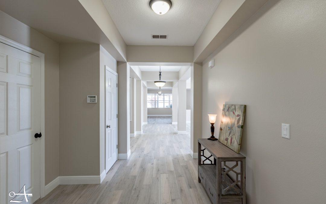Foyer remodel after